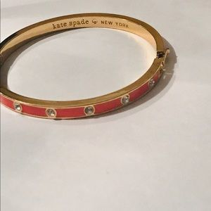 Authentic Kate Spate hinged enamel bangle/like new